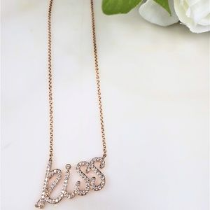 Kiss Silver Necklace